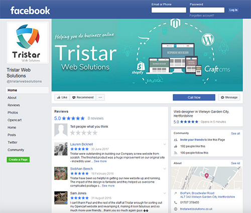 Facebook Tristar Web Solutions